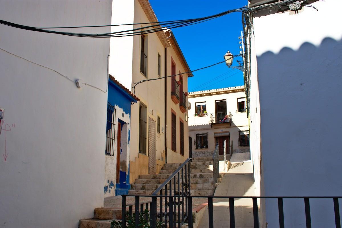 escalera del barrio de les roques denia